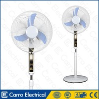 Stable quality portable orient stand pedestal fans DC-12V16B with LED light
