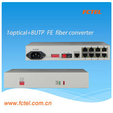 Telecom Equipment Fiber optic to RJ45 Media Converter,support IP camera 100M ethernet poe switch