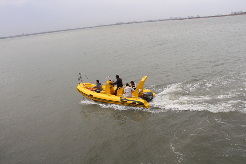 CE certified China rib boat with hypalon or pvc tube material for sale