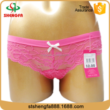 2017 Lace design top quality anti-static sexy panties for young girls