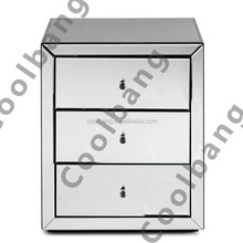 Coolbang CBM036 modern design mirrored corner chest of drawers