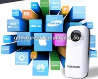 new products from p.r.c compact power bank 5600mah with strong led Flashlight