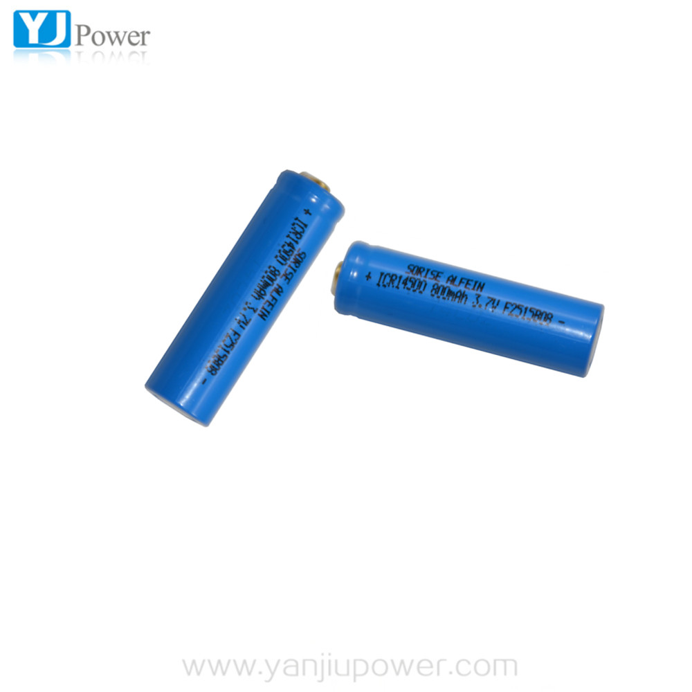 li-ion 14500 2200mah 3.7v battery li ion battery 14500 2400mah