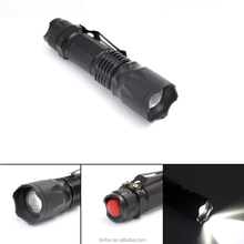 J5 tactical flashlight Xml t6 led Portable Zoomable 5 modes adjustable focus led 18650 tactical flashlight with hook