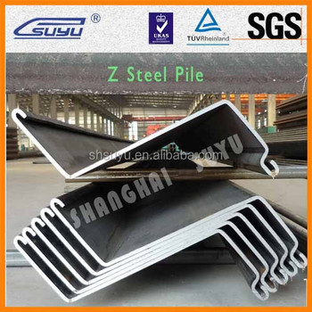 Z Shaped Sheet Piles Of Steel Product Foundation Construction ...