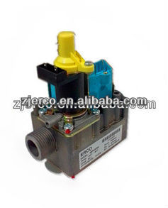 "3/4' and 1/2"" pipe size proportional gas valve in gas room heater"