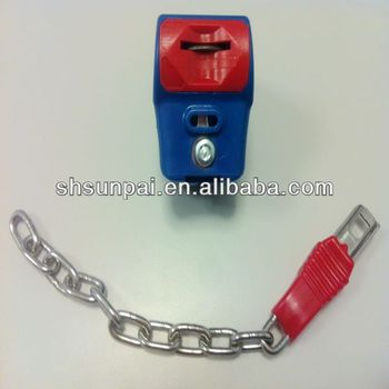 Europe supermarket shopping trolley coin lock