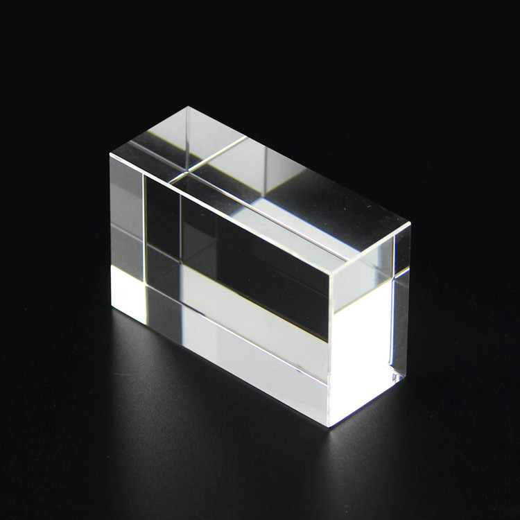 Crystal Manufacture Wholesale Blank 558 K9 Crystal Brick Paperweight Glass Crystal Cubes  for 3D Laser Souvenirs Gifts