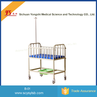 Steel Medical Hospital Baby Infant Bed Cots Trolley Designs