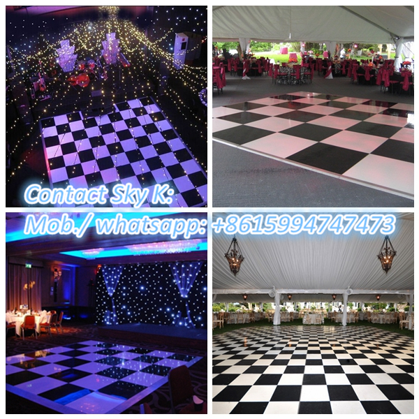 guangzhou rgbwauv wireless battery used dance floor light for sale