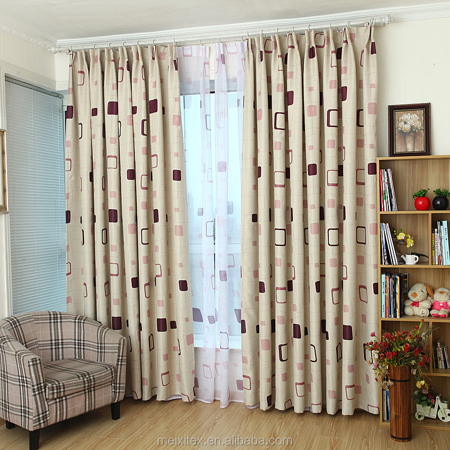 chinese style of office window curtain,ready made blackout canopy bed curtain