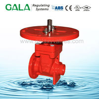 FM UL Approved non rising stem resilient seat gate valve ,300lb low price gate valve