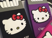 Hello Kitty personality creative cigarette shape cute silicone phone case for iPhone 5 5s 6