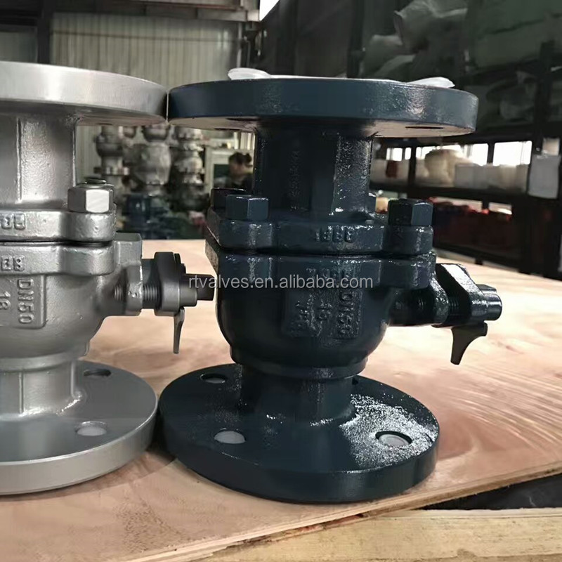 PN16 cast steel flanged ball valve
