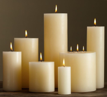 High quality antique furniture handicraft white pillar candle