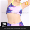 Hot promotional high quality sumblimation digital printing design yoga capri bra