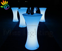 High Quality bar party hotel used Illuminated Glowing lighted Led Cocktail Table