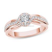 Trio Princess Cut Pave 1/2 Carat 14k White Gold Diamond Engagement Band Sets Black Wedding Rose Promise Rings