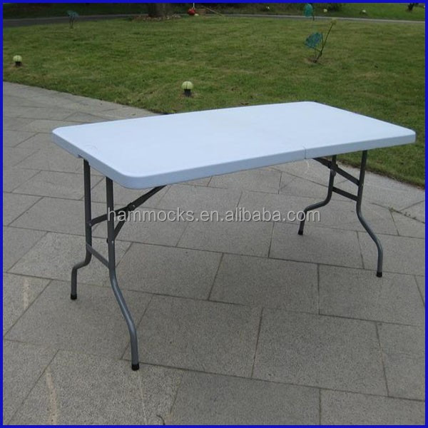 hot sale plastic table for restaurant plastic table top and steel frame combo
