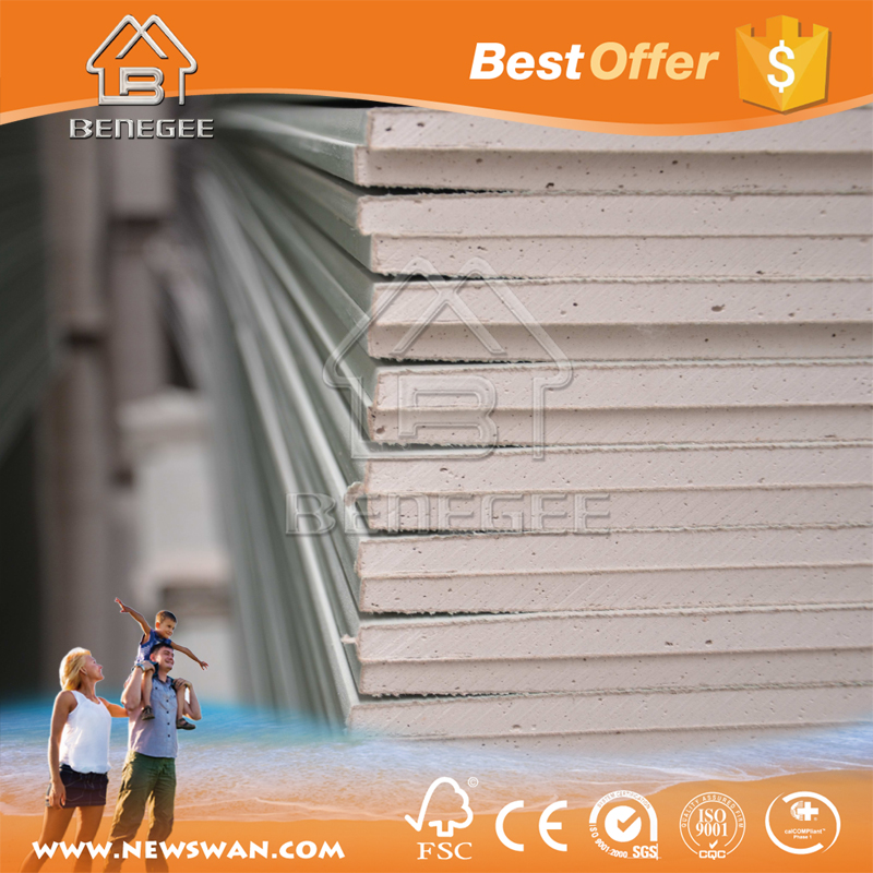 Waterproof Drywall Gypsum Board / Standard Size Gypsum Drywall Board