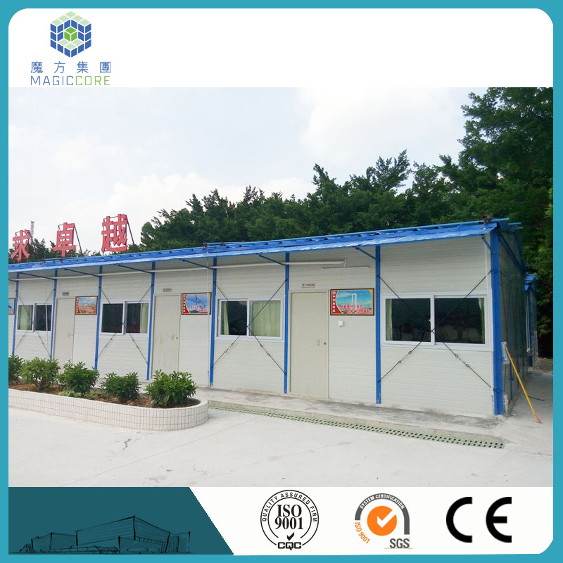 mansion house designs blue roof prefab shop made in China
