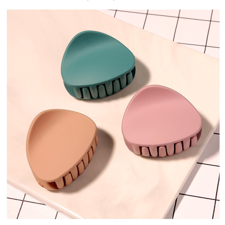 Simple Multi Macaron Color Acrylic Plastic Hairpin Accessories Hair Grip Hair Clip Claw