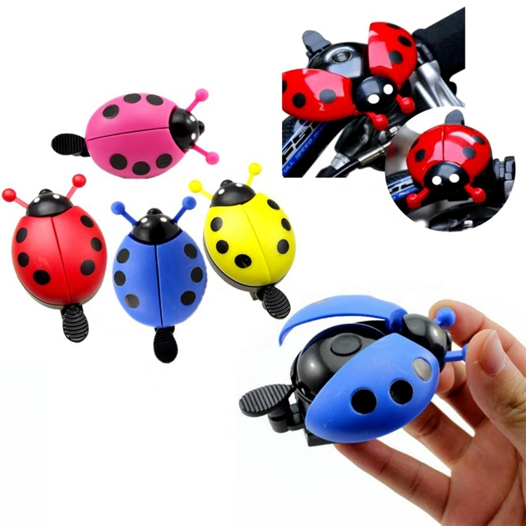Lovely Kid <strong>Beetle</strong> Ladybug Ring Bicycle Bell for Cycling Bike Ride Horn Alarm Bike Trumpet
