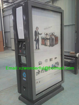 Outdoor Advertising with Recycle Bin