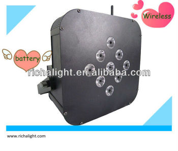 mini led battery flat par/wireless battery light event wedding light