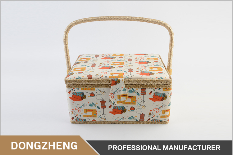Hot sale rectangle fabric kit storage box sewing basket christmas present