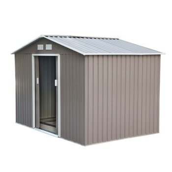 Outdoor Backyard Metal Garden Utility Storage Sheds - Gray/White