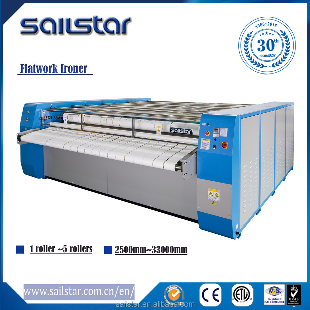 Sailstar laundry clothes flat ironer & sheet ironing machine /machines