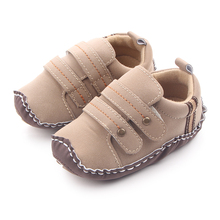 New Arrival Leather Baby TPR Handmade Hard Sole Boys Walking Shoes