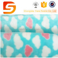 children age group cloud printed flannel fleece fabric for baby blankets