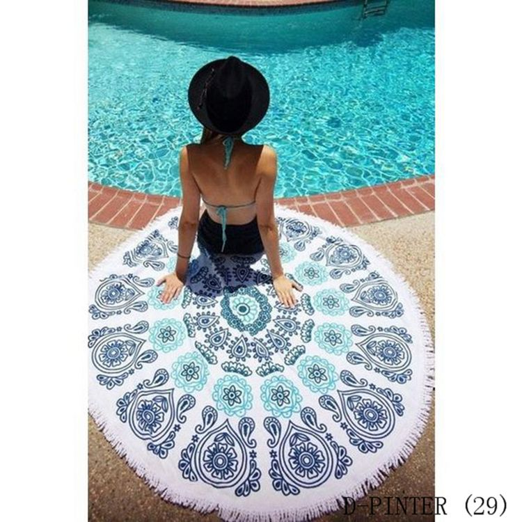 New Product for 2016 Customized 100% cotton round beach towel with tassel, microfiber solid color beach towels, white 100% egyp