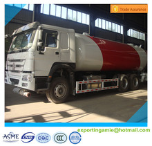 high quality 6x4 HOWO 25300 liters gas cylinder transportation lpg tanker truck