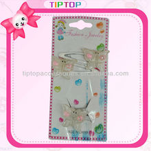 Butterfly with glitter snap clip sets hair accessories for kids