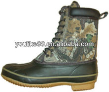 YL-2175 vulcanized rubber shell mossy oak combo snow boots
