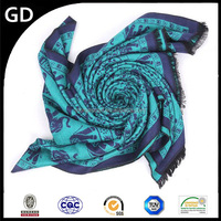 GDK0140 High - level 8 colors southeast asia style elephant print yak wool scarf