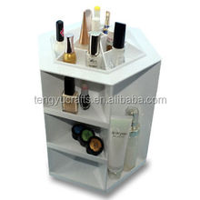 Wholesale table luxury acrylic cosmetic desk perfum display stand for beauty shop