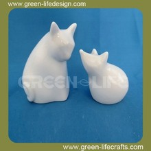 White ceramic rat figurine