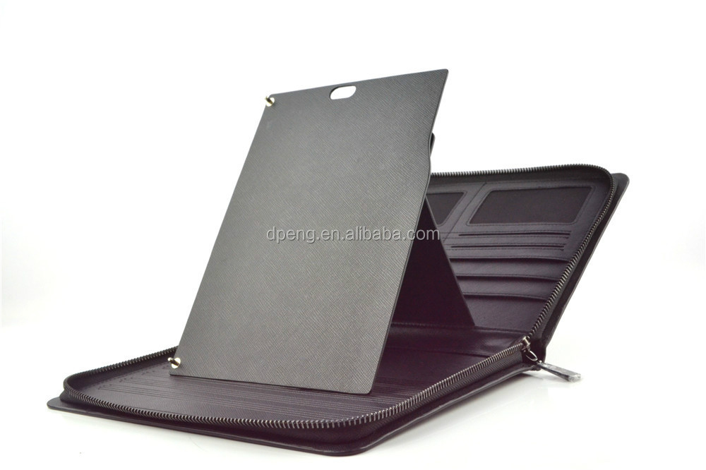 Ultra slim fancy cute tablet pc case with zipper and card holder