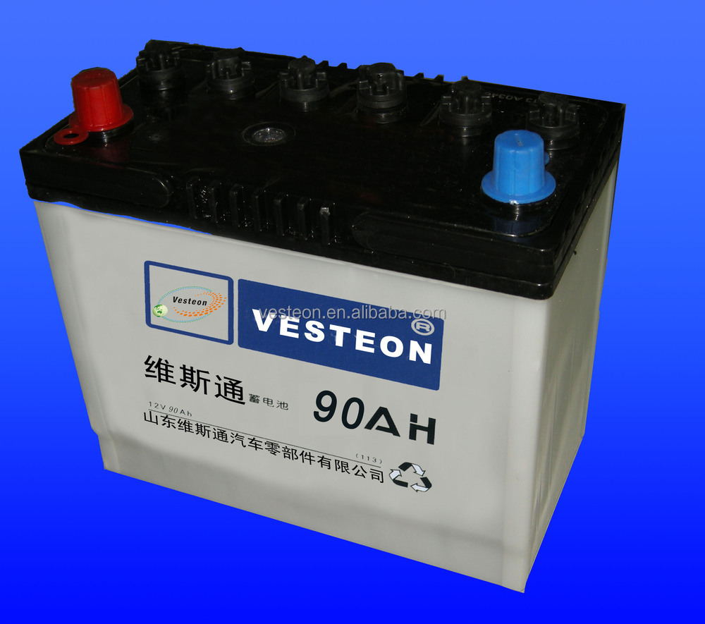 12v lead acid dry charged/MF car battery