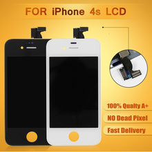 AAA quality with small parts Black & White 100% tested For iPhone 4S LCD Screen Display Assembly