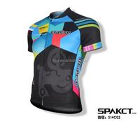Spakct men team custom sublimation long sleeve fleece breathable bike jersey high quality