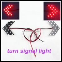 one year warranty error free 12v red turn signal light for cars 14 SMD LED Mirror Arrow Lights