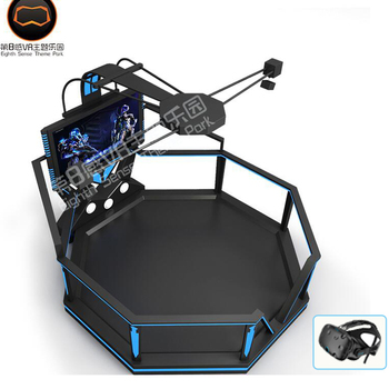 Wholesale alibaba gym fitness equipment video games vr hunting vr treadmill with htc vive helmat