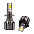 China car accessories K7 H4 LED Headlight Bulbs 48w 5600lm H7 Car LED Headlight tricolor