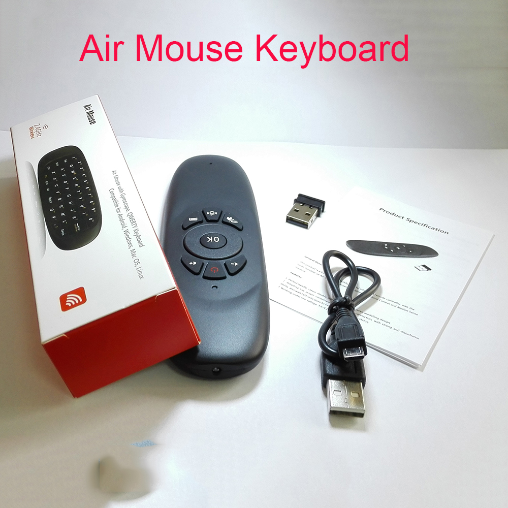 Factory Price 2.4GHz G64 Fly Mouse Air mouse Rechargeable Wireless Gyro Air Fly Mouse and Keyboard Combo For Android Tv Box