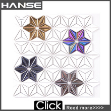 SH616 favorable price morden design home use triangle glass tile mosaic